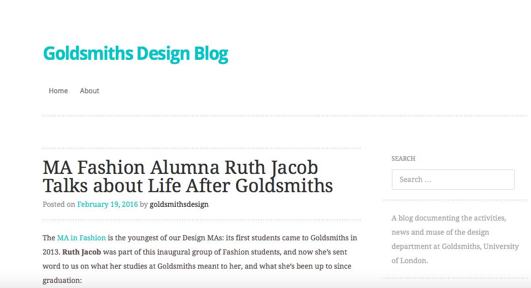 Goldsmiths blog