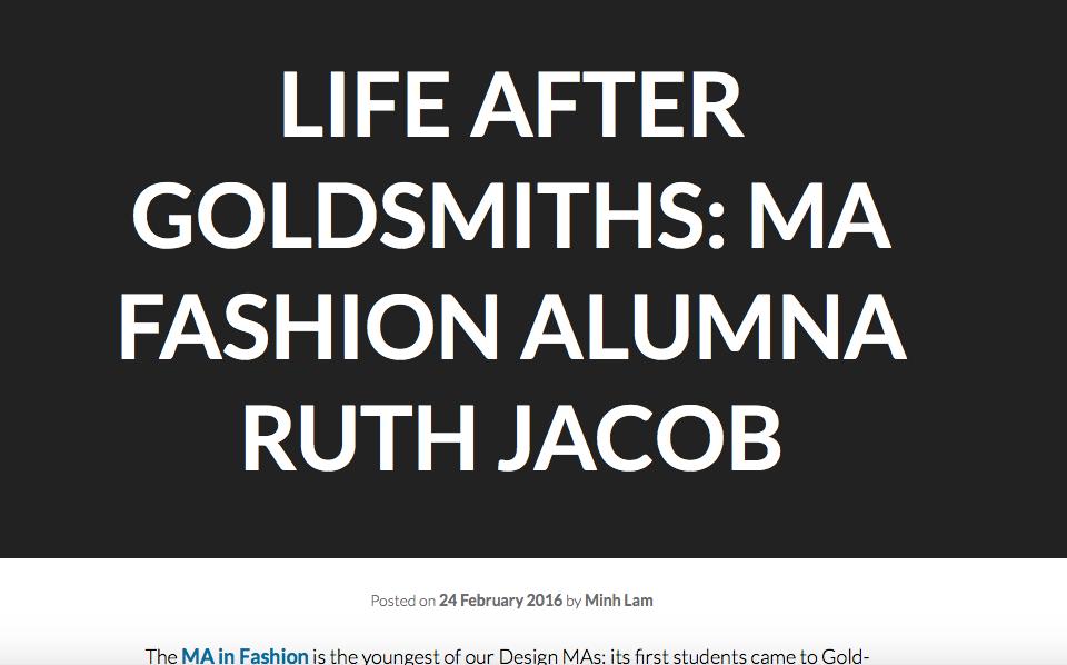 Goldsmiths interview