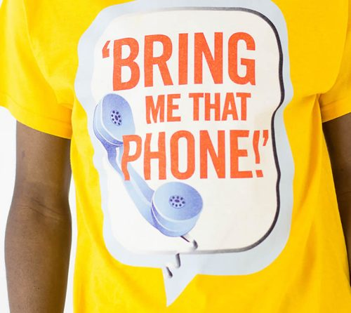 BIGGER BOY Bring Me That Phone! T-shirt - Gold